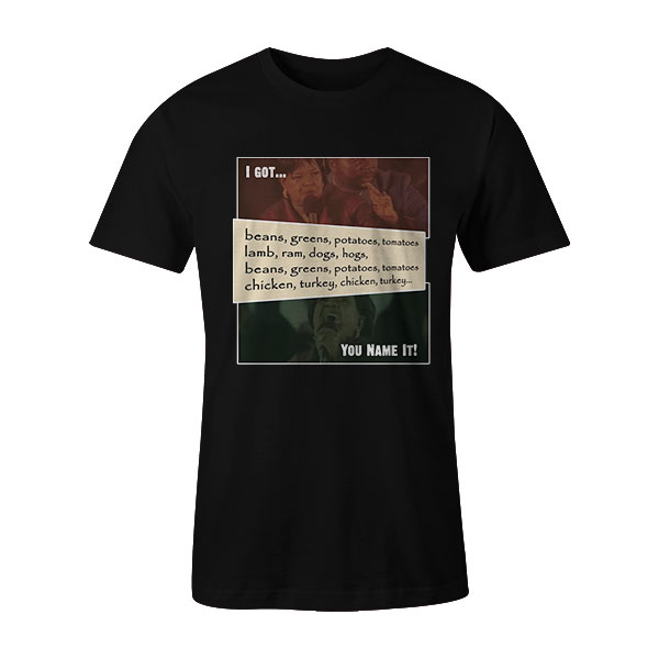 Beans and Greens T Shirt Black2