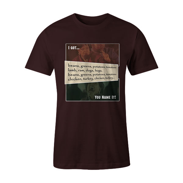 Beans and Greens T Shirt Brown2