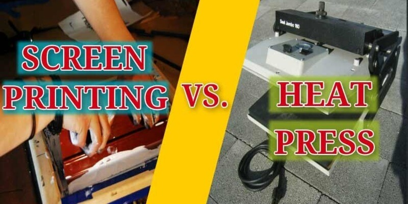 Screen Printing vs Heat Press