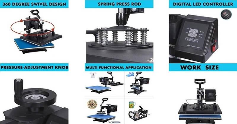 Mophorn Multifunction Heat Press Machine