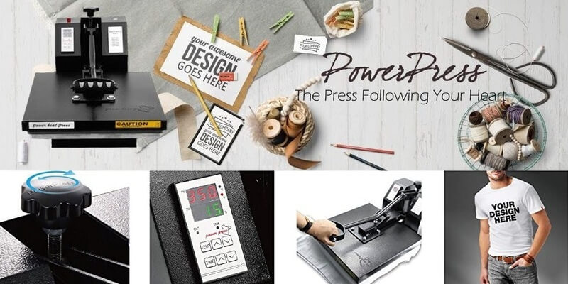 PowerPress T-Shirt Heat Press Machine