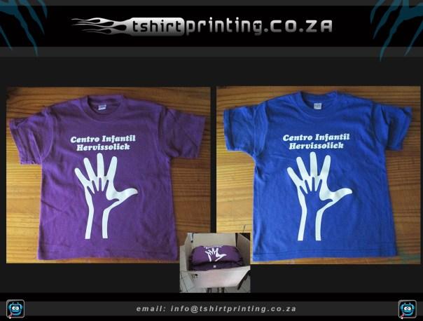 silkscreen printing on kiddies tshirts