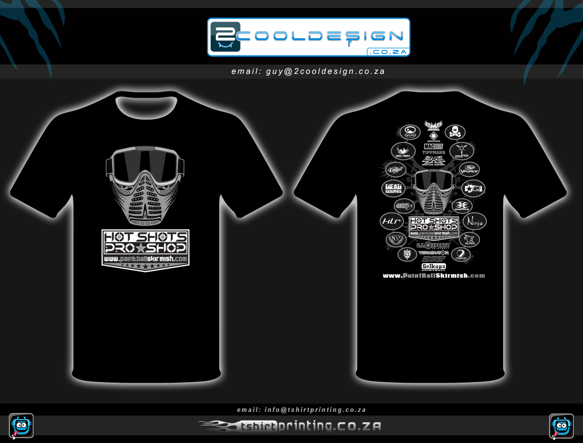 T shirt design za - Custom Paintball Shirts