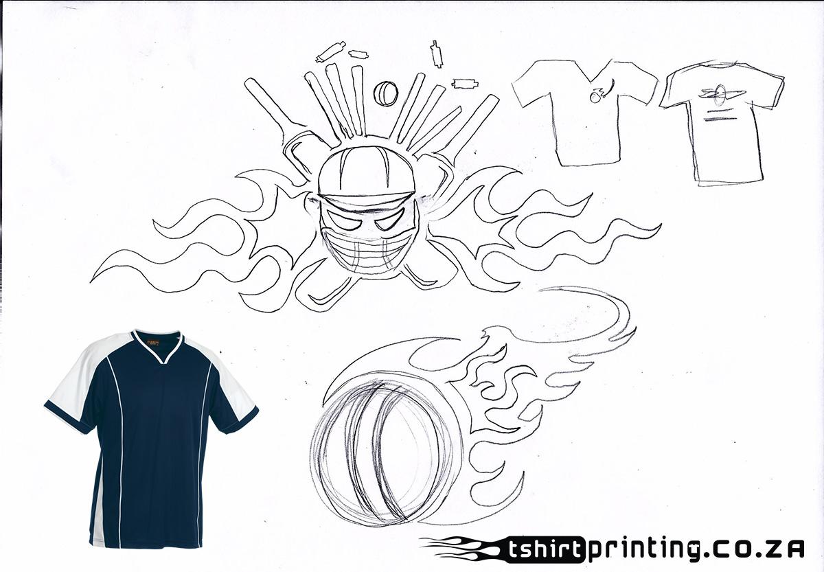 T shirt design za - Action Cricket Team Logo Concept