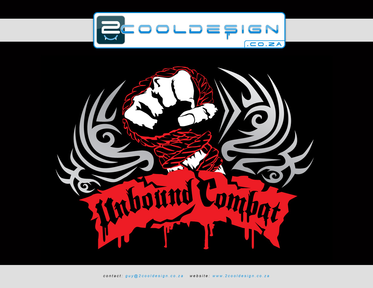 T shirt design za -  Minimal Colour Tshirt Design Unbound Combat By Guy