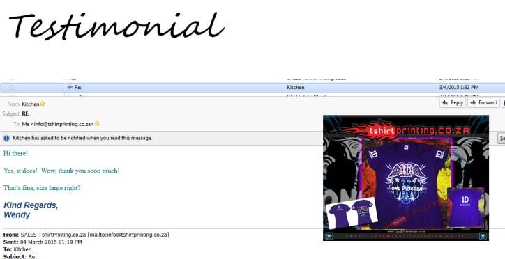 DTG-print-testimonial-tshirtprinting.co.za-direct-to-garment-printed-purple-shirt-customer-feedback