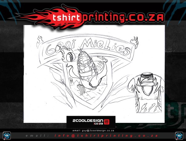 conceptual sketch for cricket shirt logo design