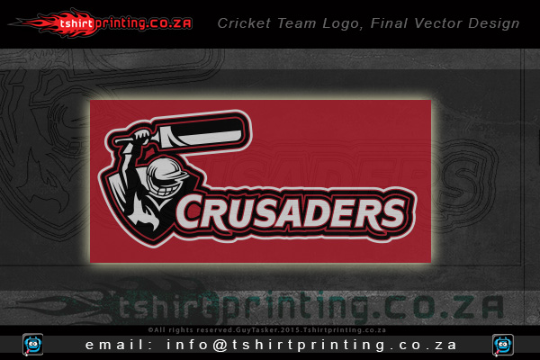 Final-vector-logo-crusaders-action-cricket-team-logo-Sandton-South-africa-tshirt-printing