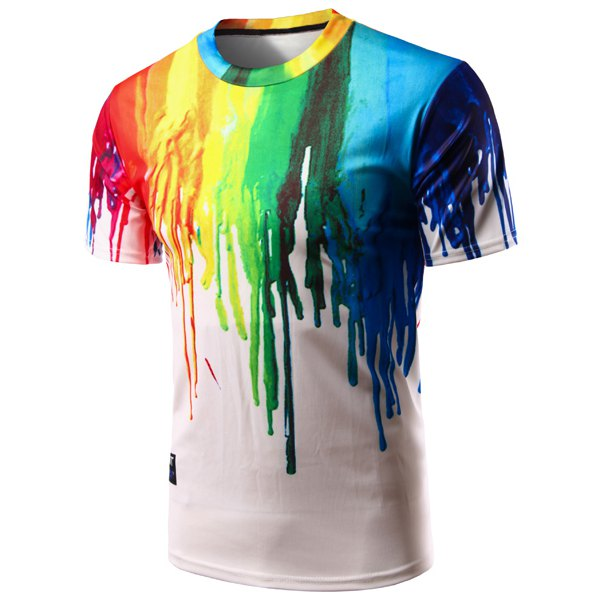 all over print colour drip example
