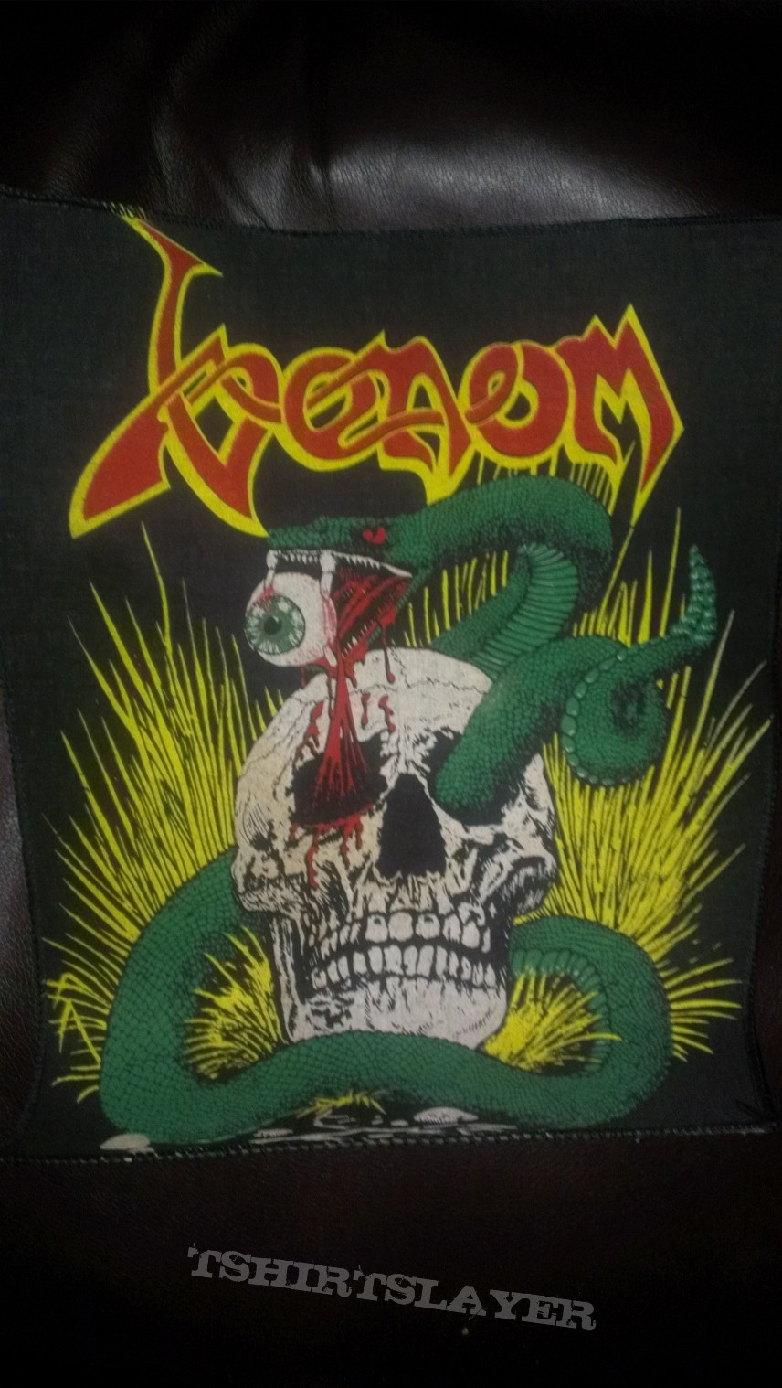 VenomSnake Through Skull Patch  TShirtSlayer TShirt and BattleJacket Gallery