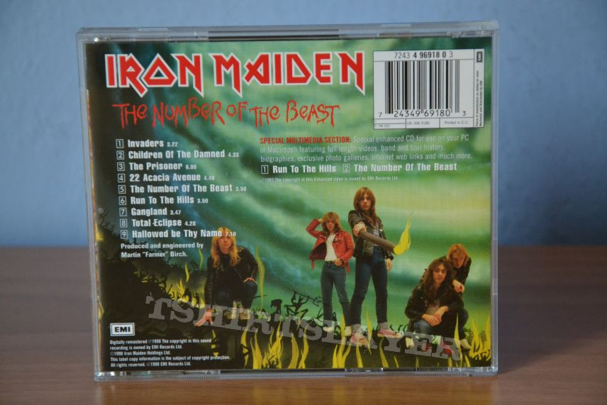 Iron Maiden  The Number Of The Beast CD 1982