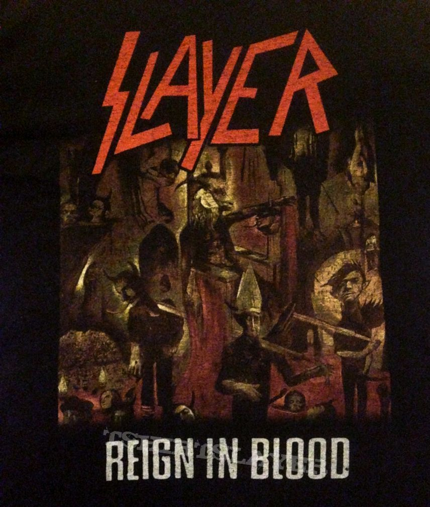 slayer reign in blood 8586 tour shirt US  TShirtSlayer TShirt and BattleJacket Gallery