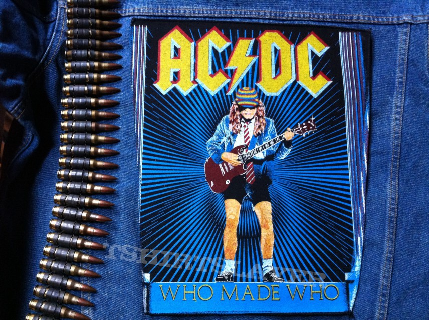 ACDC  Who Made Who original vintage Backpatch