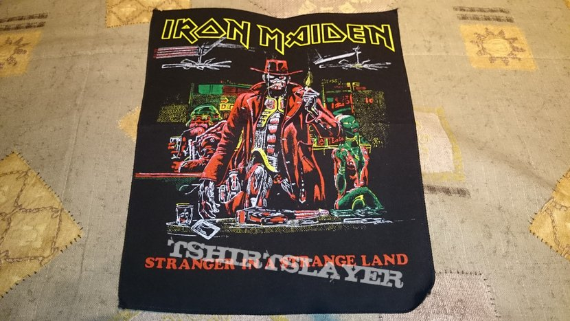 Iron Maiden  Stranger in a strange land Vintage Backpatch  TShirtSlayer TShirt and