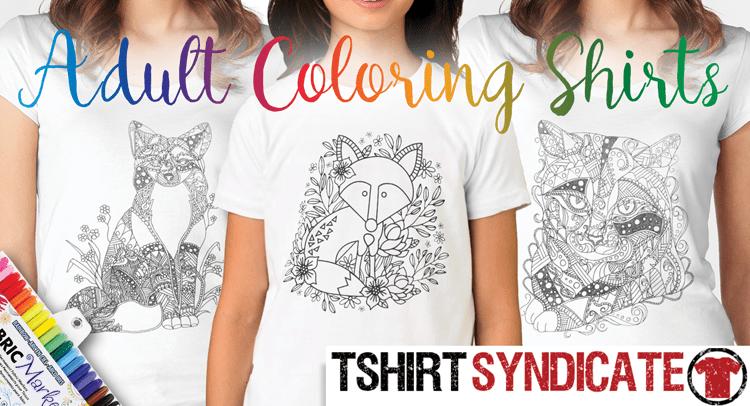 Adult Coloring T-Shirts and Shirts