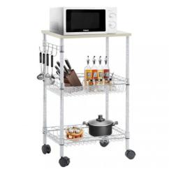 Wire Kitchen Cart Primal Factory Direct Utility 3 Tier Rolling Organizer Nsf On Wheels Metal 0