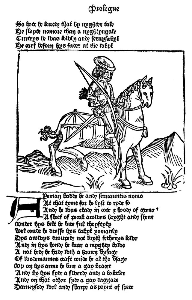 Posterazzi: The Yeoman 1484 Nwoodcut From The Prologue To