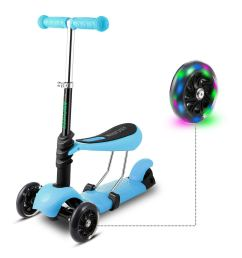 scooter for kids toddler 3 in 1 3 wheel mini kick scooter with [ 1500 x 1500 Pixel ]