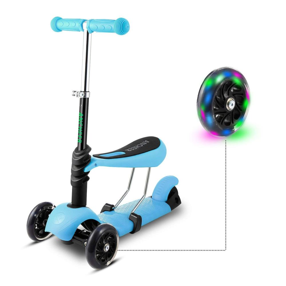 medium resolution of scooter for kids toddler 3 in 1 3 wheel mini kick scooter with