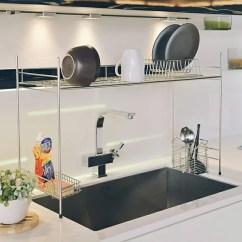Kitchen Sink Rack Small Chairs 必買當紅廚房收納碗盤架瀝水架 D0085 不鏽鋼跨海大橋伸縮瀝水槽架mit 廚房收納碗盤架瀝水架