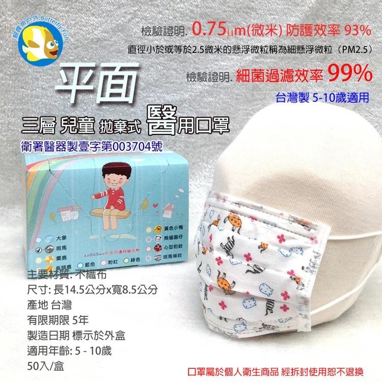 臺灣康匠 兒童平面醫療口罩購物比價-FindPrice 價格網