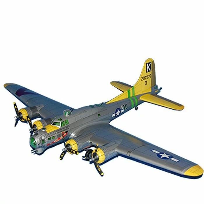 【創意紙模】美國B-17G空中堡壘轟炸機 紙型模 1:47 飛機模型 手工DIY 軍武宅 飛機紙模型 | 優生活創意賣場 ...