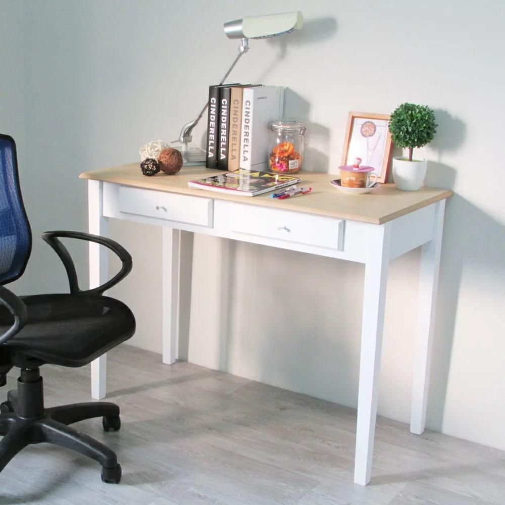 書桌 電腦桌 辦公桌 古典法式雙抽屜100CM書桌【DCA024】 | Amos 亞摩斯生活工坊 - Rakuten樂天市場