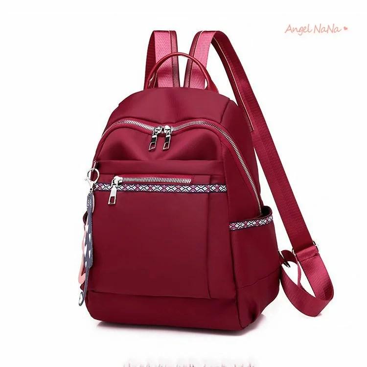 後背包。AngelNaNa 大容量純色貓咪吊飾牛津布雙肩包【BA0351】 | AngelNaNa - Rakuten樂天市場