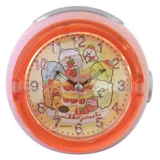 小禮堂 角落生物 圓形LED音樂鬧鐘 指針時鐘 桌鐘 小夜燈 (紅黃 草莓) | 小禮堂-樂天旗艦店 - Rakuten樂天市場