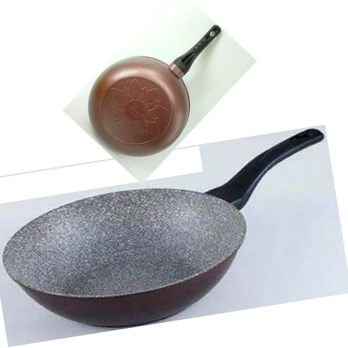 韓國Ecoramic鈦晶石頭抗菌不沾鍋 平底鍋【30cm 酒紅色大深鍋 】 | 樂活生活館 - Rakuten樂天市場