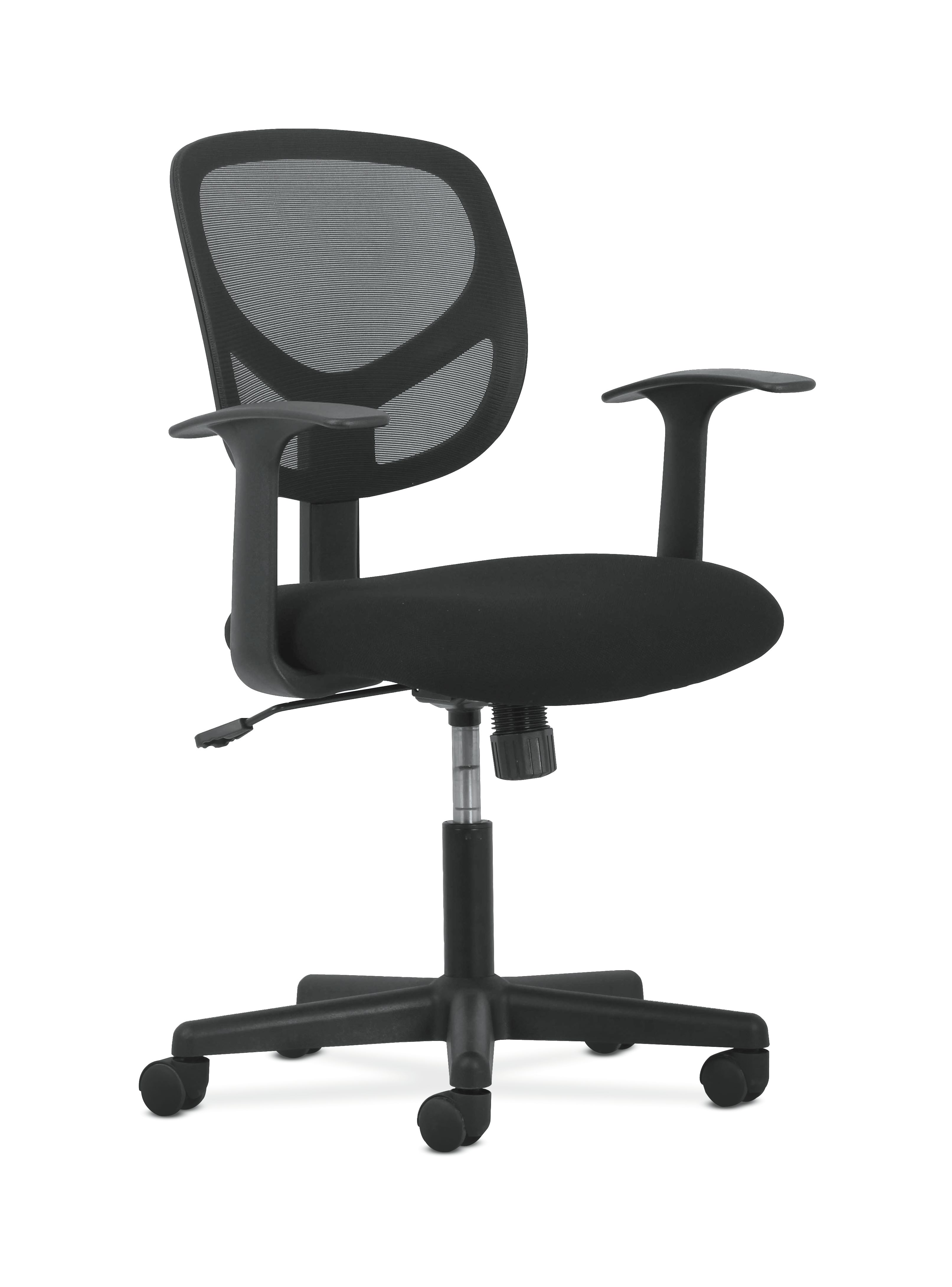 mesh task chair camping chairs heavy duty office essentials sadie swivel mid back with arms ergonomic computer
