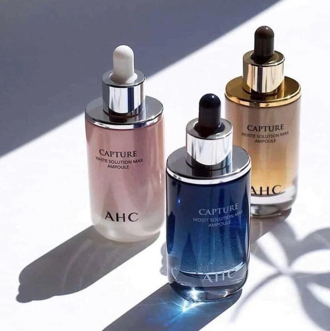 AHC 逆轉時空 升級版 安瓶 精華液 重生精華 50ml 三色 粉 藍 金 - 臺灣樂天市場 - LINE購物