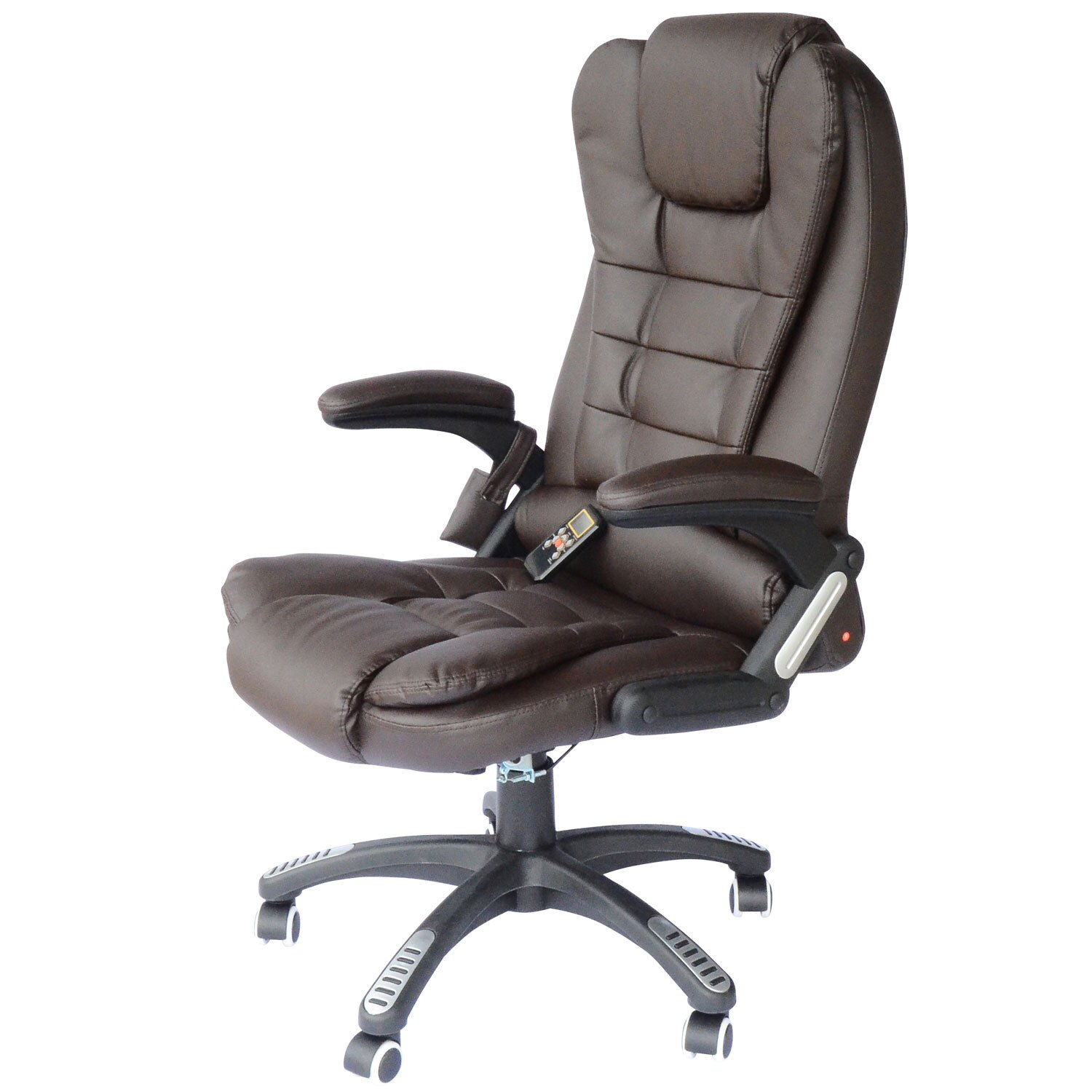 Office Chair Massager Aosom Homcom High Back Executive Ergonomic Pu Leather