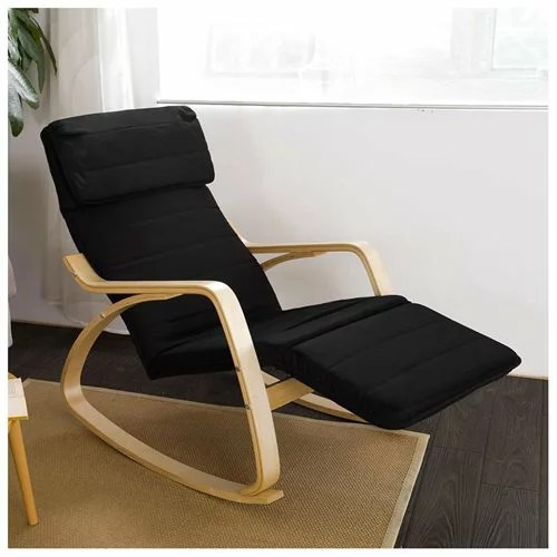 rocking chair footrest carpet mat with lip haotiangroup haotian comfortable adjustable foot rest black fst16 1