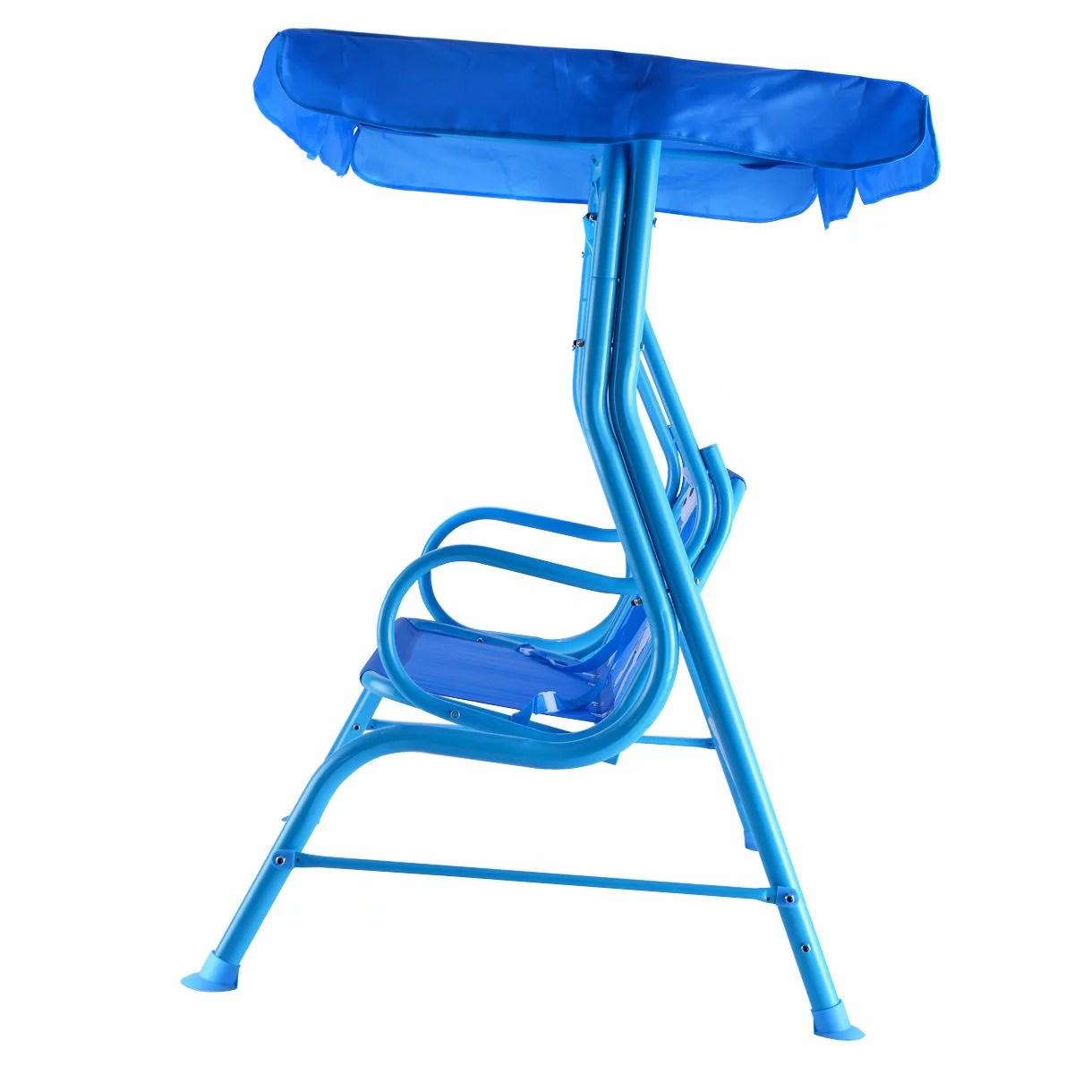 kids chair with canopy wheelchair yoga videos costway rakuten patio swing children