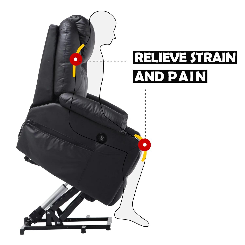 electric chair heater gmc yukon captains chairs mcombo power lift massage sofa recliner