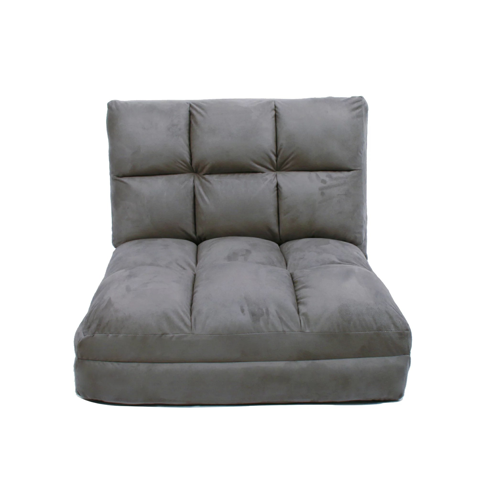 Sleeper Chairs Loungie Microsuede 5 Position Flip Chair Adjustable Sleeper Dorm Bed Couch Lounger Sofa Inspired Home