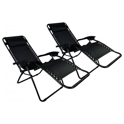 black patio chairs formal dining room chair seat covers factory direct zero gravity case of 2 lounge outdoor yard beach o85