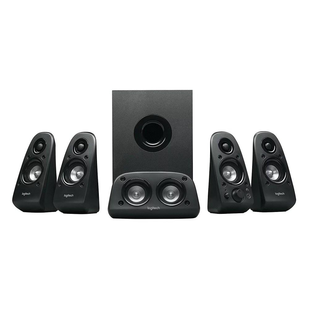 medium resolution of logitech z506 6 piece 5 1 channel surround sound speaker system 980 000458 0
