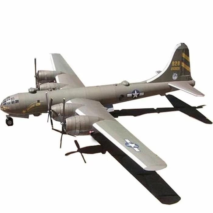 【創意紙模】美國B29超級空中堡壘轟炸機 紙模型飛機模型手工DIY軍事迷 船紙模型 DIY紙模具 | 優生活創意賣場 ...