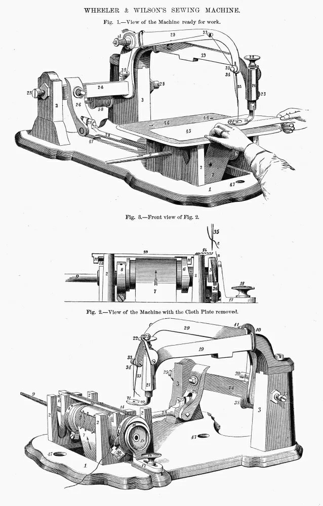 Posterazzi: Sewing Machine 1850S Nwheeler & WilsonS Sewing