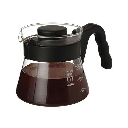 【沐湛咖啡】日本製HARIO V-60 (VCS-01B/VCS-02B)微波耐熱玻璃壺 450cc 咖啡壺 花茶壺 黑   沐湛咖啡 - Rakuten樂天市場
