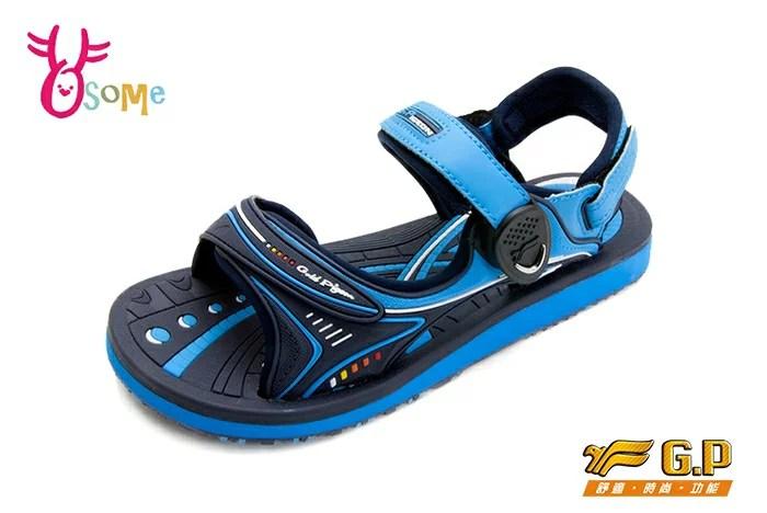 GP涼鞋 大童 磁扣兩穿休閒防水涼鞋 I6662#藍色 OSOME奧森鞋業   OSOME奧森鞋業 - Rakuten樂天市場