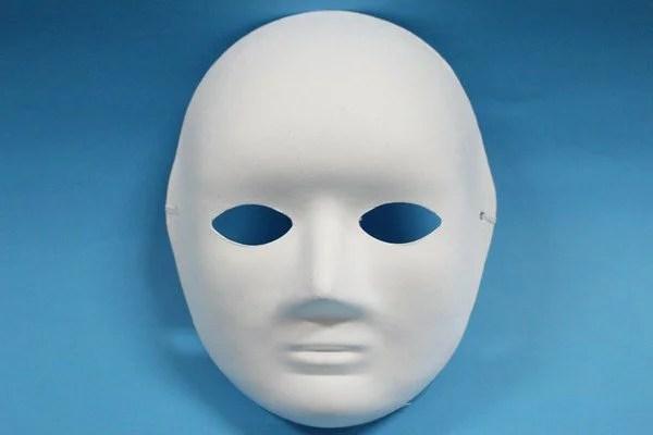 全臉面具 彩繪面具 空白面具 DIY面具 白臉譜 紙面具(附鬆緊帶)/一 ...