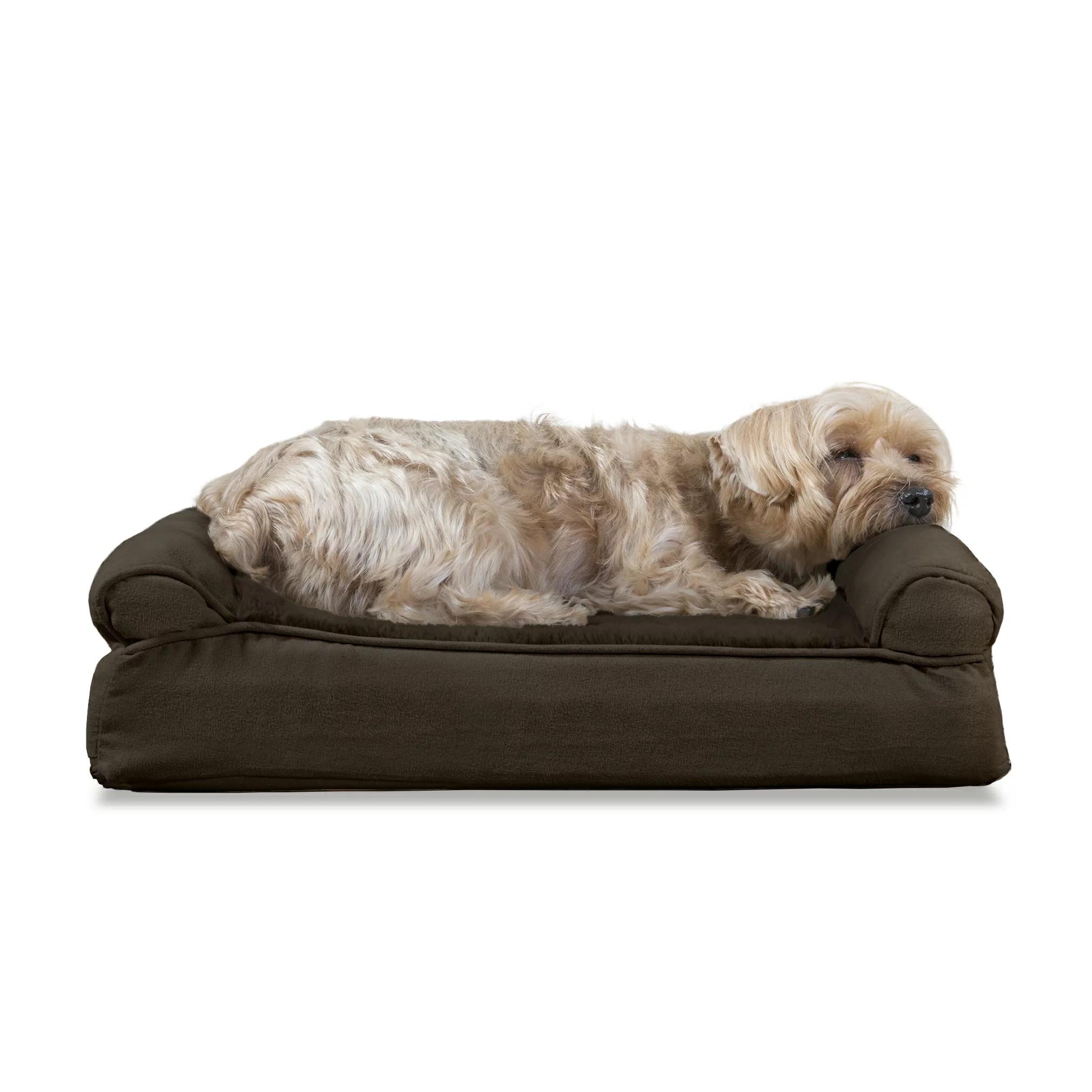 pet dog sofa cheap deals online furhaven products bed memory foam