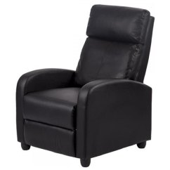 Accent Chair Recliner Wheelchair Cat Factory Direct Black Arm Bonded Leather Single