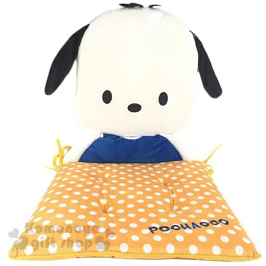 〔小禮堂〕帕恰狗 造型座椅墊《黃白.半身.點點》綁帶.止滑設計