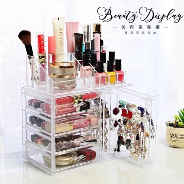 收納盒 壓克力 展示盒 【化妝品收納盒-六小抽】化妝品收納 口紅收納櫃 透 - 比價查詢- Biza 比價網