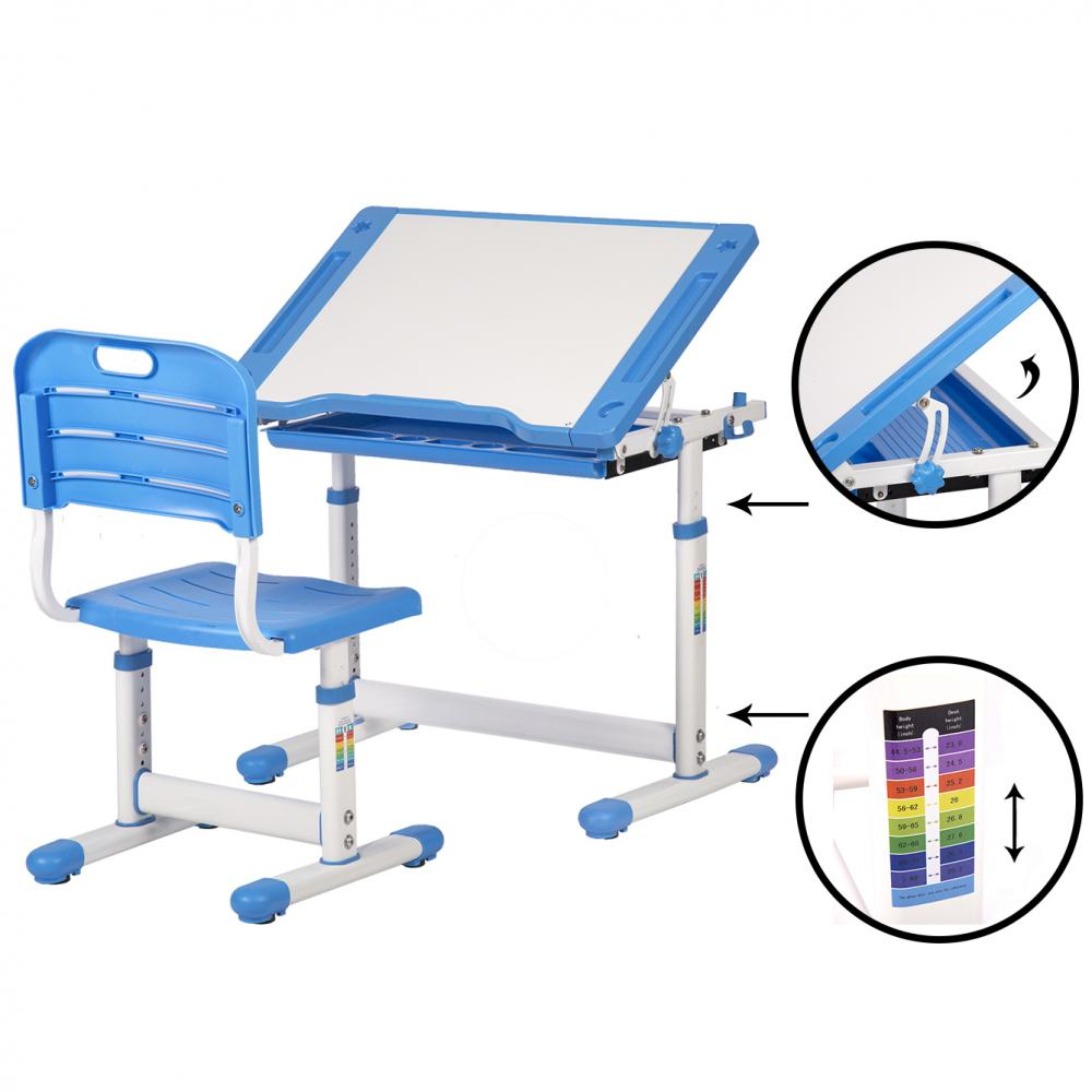 Study Table And Chair Blue Adjustable Children S Desk Chair Set Child Study Desk Kids Study Table Xlq