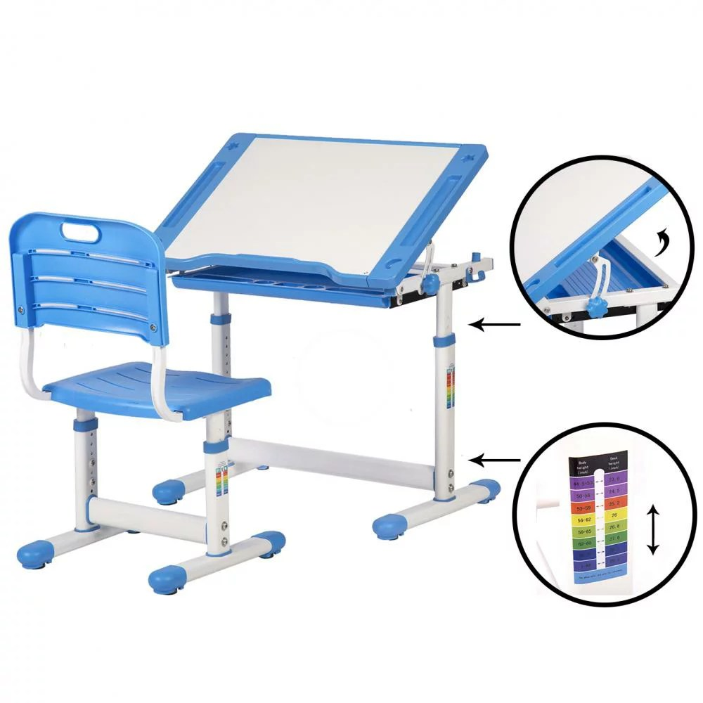 Desk And Chair Set Blue Adjustable Children S Desk Chair Set Child Study Desk Kids Study Table Xlq